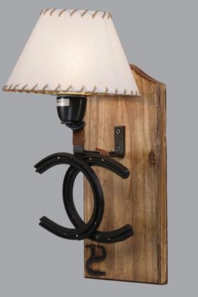 Aplique 1 luz Doble herradura