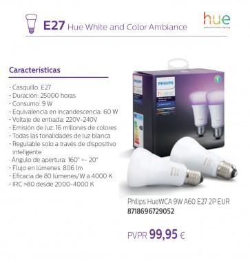 PHILIPS HUE 9W A60 E27 2P EU