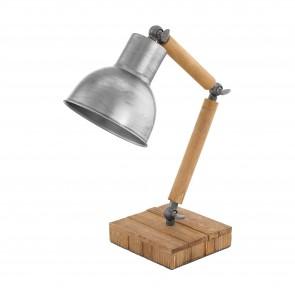 Lámpara de mesa SERIE Marrón, plata /