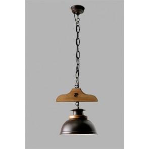 colgante 1 luz Percha campana esfera