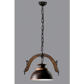 Colgnte 1 luz Doble Yuguillo campana esfera