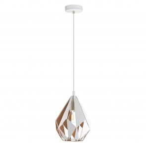 Lámpara colgante SERIE Blanco, oro /