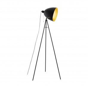 Lámpara de pie SERIE Negro, oro /