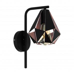 Lámpara de pared SERIE Negro, colores de cobre-antiguo /