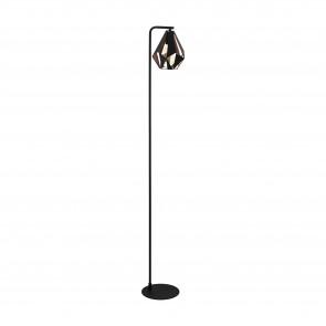Lámpara de pie SERIE Negro, colores de cobre-antiguo /