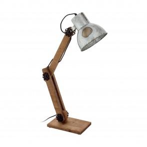 Lámpara de mesa SERIE Marrón, negro / Zinc efecto usado