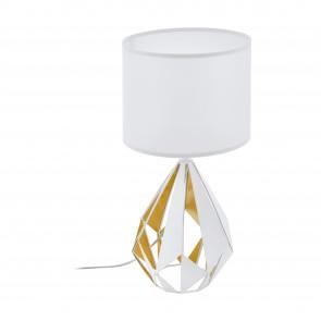 Lámpara de mesa SERIE Blanco, oro miel / Blanco