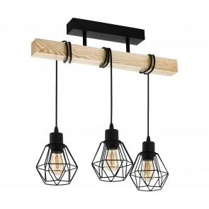Lámpara de techo SERIE Negro, marrón /