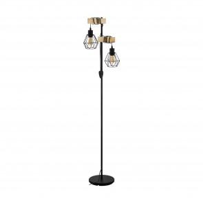Lámpara de pie SERIE Negro, marrón /