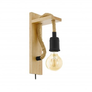 Lámpara de pared SERIE Negro, marrón /