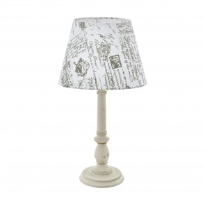 Lámpara de mesa SERIE Blanco-pátina / Gris, blanco