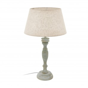 Lámpara de mesa SERIE Gris-pátina / Crema