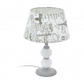 Lámpara de mesa SERIE Gris, blanco / Gris, blanco