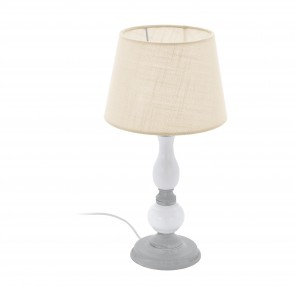Lámpara de mesa SERIE Gris, blanco / Gris