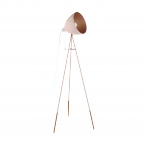 Lámpara de pie SERIE Pastel albaricoque, cobre /