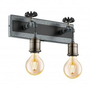 Lámpara de pared SERIE Plata-antiguo, negro / Bruñido