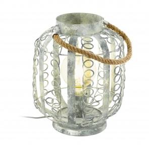 Lámpara de mesa SERIE Crema-oro /