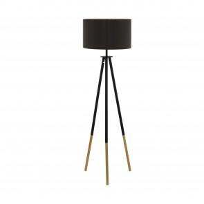 Lámpara de pie SERIE Marrón / Cappuccino, oro