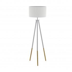 Lámpara de pie SERIE Marrón, blanco / Blanco