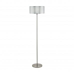 Lámpara de pie SERIE Níquel-mate, cromo / Claro