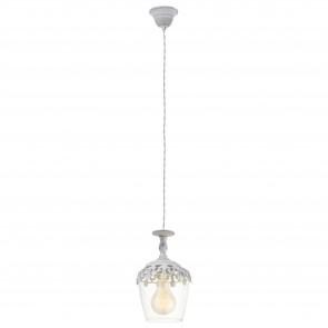 Lámpara colgante SERIE Blanco-pátina / Claro