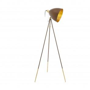 Lámpara de pie SERIE Colores oxidados, oro /