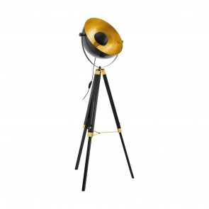 Lámpara de pie SERIE Negro, latón, oro /