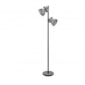 Lámpara de pie SERIE Marrón-pátina, negro / Zinc efecto usado