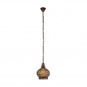 Lámpara colgante SERIE Colores de cobre antiguo / Colorido