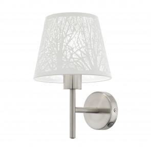 Lámpara de pared SERIE Níquel-mate / Blanco