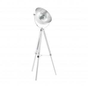 Lámpara de pie SERIE Blanco , cromo, plata /