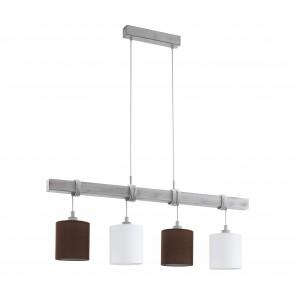 Lámpara colgante SERIE Blanco-pátina / Blanco, marrón