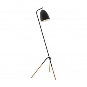 Lámpara de pie SERIE Negro, cobre /