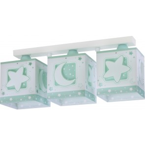PLAFON 3 LUCES MOONLIGHT VERDE