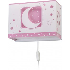 APLIQUE MOON LIGHT ROSA
