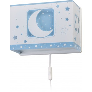 APLIQUE MOON LIGHT AZUL