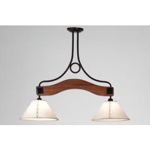 Lámpara 2 luces Napo con pantalla