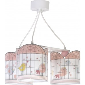 PLAFON 3 LUCES LITTLE BIRDS