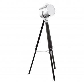Lámpara de pie SERIE Negro / Cromo