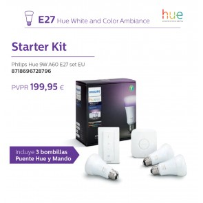 STARTER KIT PHILIPS 9W A60 E27 SET EU